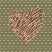 Sfondo romantico con cuore illustrato — Foto Stock