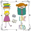 Set of Love to Read elements — Stock Photo #28670671