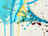 Abstract illustrated watercolor grunge background — Stockfoto