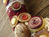 Wreath with buttons — Foto de Stock