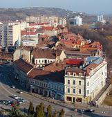 Urban scene across built up area showing roof tops — Stock Photo
