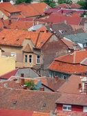 Městské scény napříč Zastavěná plocha ukazující střech — Stock fotografie