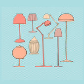 Illustrated lamps — Stock Photo
