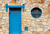 Detail of beautiful rustic house facade — Stockfoto