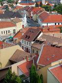 Urban scene across built up area — Stock Photo