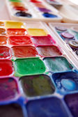 Watercolor paint in box — Stock Photo
