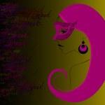 Illustrated beautiful carnival girl — Stock Vector #8393357