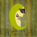 Illustrated beautiful carnival girl — Stock Photo #8512989