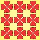Red hearts seamless background pattern — Stock Vector
