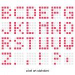 Pixel art alphabet font — Stock Vector