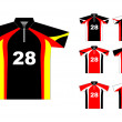 Vector sport jersey with color variations - Stock Vector