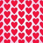 Patrón de corazones rojos fondo transparente — Vector de stock