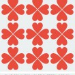 Stock Vector: Red heart seamless background pattern flat design