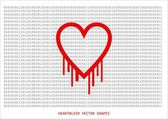 Heartbleed openssl bug vector shape, bleeding heart — Stock Vector