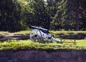 Cannon at Fredriksten Fort — Stock Photo