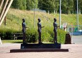 Lillehammer  Winter olympics statue, Norway — Stock Photo