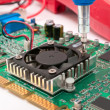 Circuit board mounting — Stock Photo