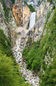 Slovenian waterfall — Stock Photo