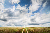 Rural scene with sky — Foto de Stock