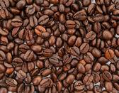 Kaffeebohnen-hintergrund — Stockfoto