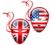 American and British flags mask.Vector — Stock Vector