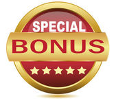 Golden Web button bonus.Vector — Stock Vector