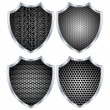 Security shield metal.Vector - Stock Vector