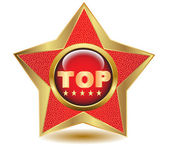 Gold star top icon.Vector — Stock Vector