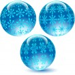 Glass balls with textures.Vector - Stock Vector