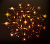 Rode feestelijke vuurwerk — Stockvector