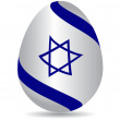 Royalty-Free Stock Vector Image: Israeli flag Easter egg isolated.Vector