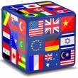 National flags 3d cube.Vector - Stock Vector