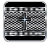 Background metal Cross.Vector — Stock Vector