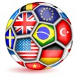 Football ball with flags.Vector — Vettoriali Stock