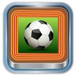 Icon soccer ball.Vector — Stock Vector