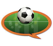 The index icon with the soccer ball.Vector — Stock Vector