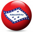 Stock Vector: Arkansas State Flag globe