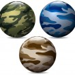 Camouflage balls set — Stock Vector