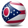 Ohio State Flag globe.Vector — Vector de stock