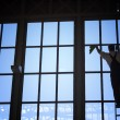 Foto Stock: Window Cleaner