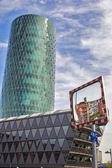 Westhafen Tower in Frankfurt — Stock Photo