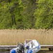 Stock Photo: Rubber dinghy on Lake