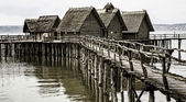 Stilt houses on Lake Constance — Stock Photo