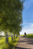 Cyclists in nature — Stock Photo