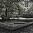 Playground on a Berlin backyard — Foto Stock