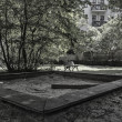 Playground on a Berlin backyard — Stockfoto