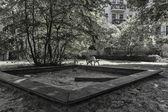 Playground on a Berlin backyard — Stock Photo