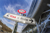 Kiss and Ride — Stock Photo