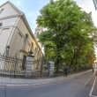 Sophienstrasse with Sophienkirche in Berlin Mitte — Stock Photo