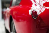 Taillight in a red vintage — Stock Photo
